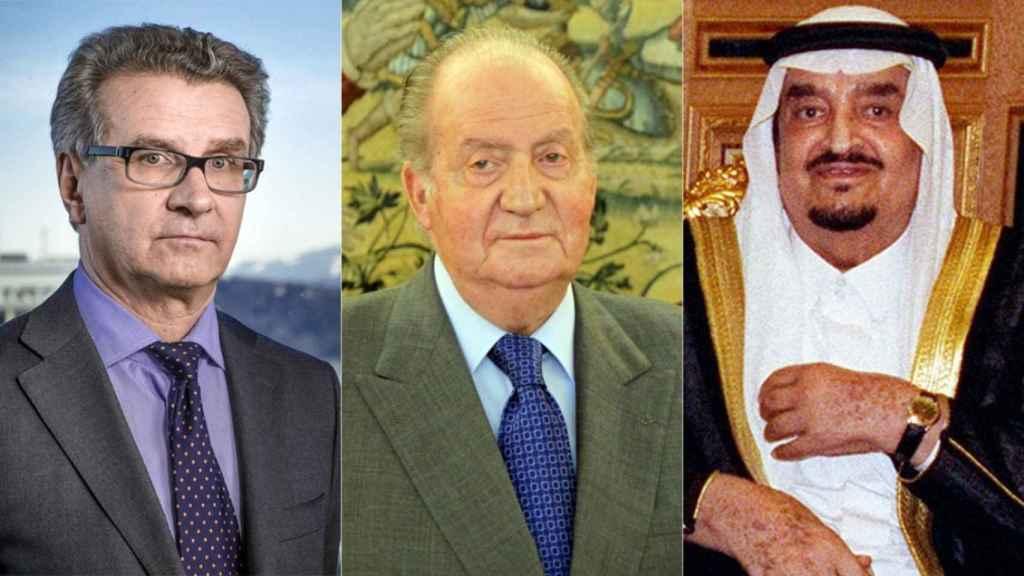 Arturo Fasana, Juan Carlos I y  Abdalá bin Abdulaziz, rey de Arabia Saudí.