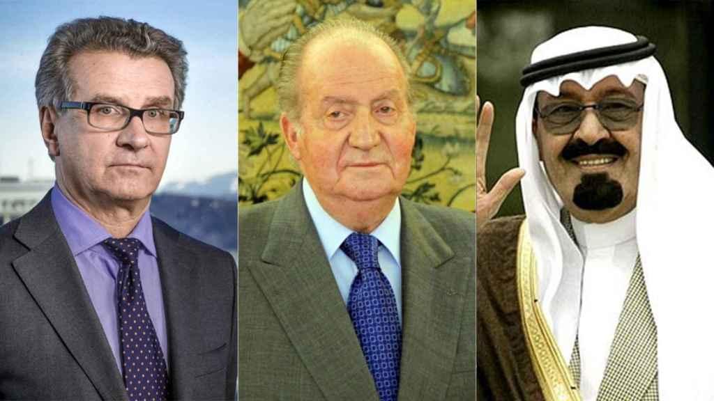 Arturo Fasana, Juan Carlos I y el rey Abdalá de Arabia Saudí.