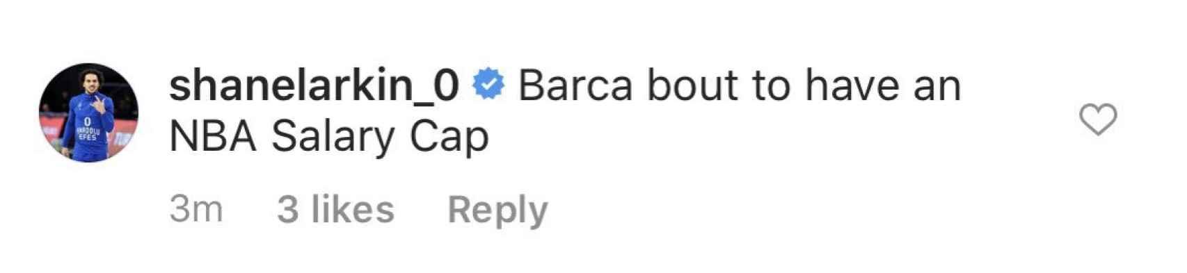 El dardo de Larkin al Barcelona tras la renovación de Oriola