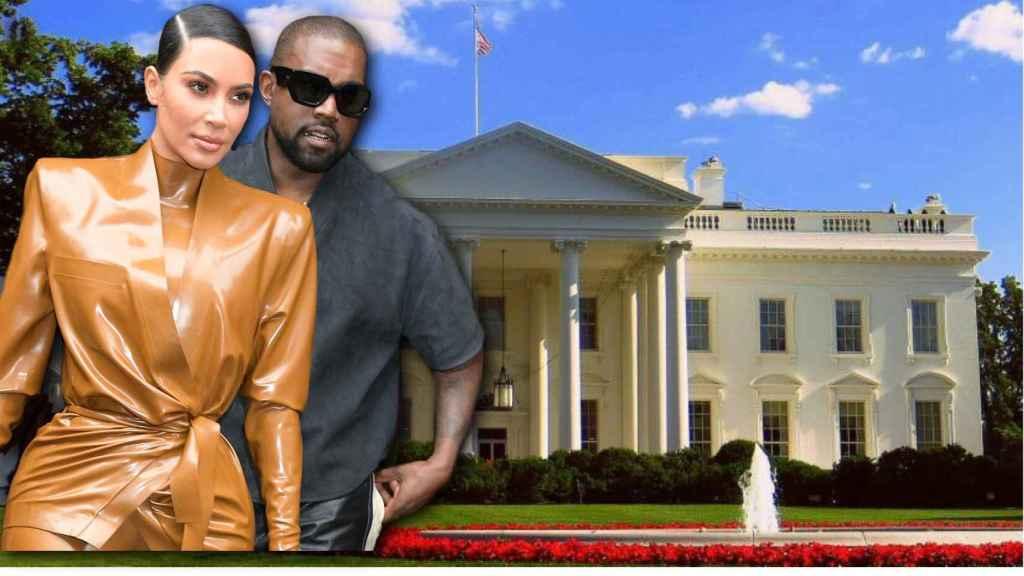 Kim Kardashian y Kanye West en un montaje de Jaleos.