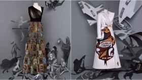 Dos vestidos de alta costura de Dior.