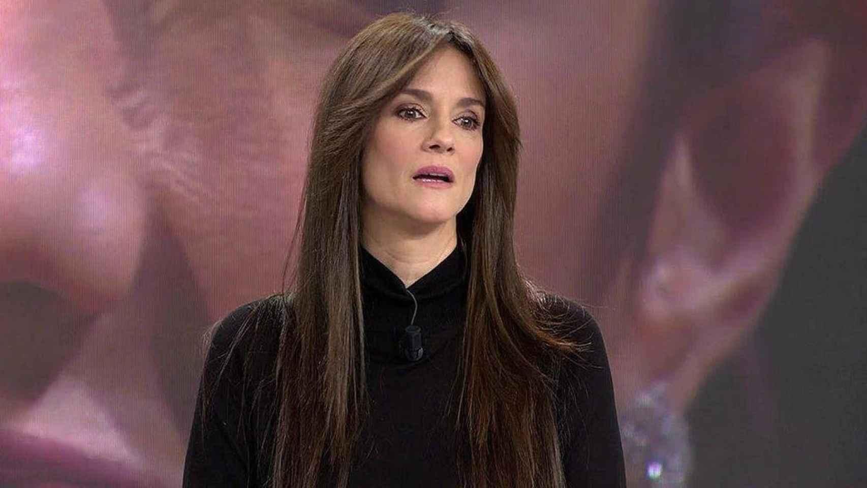 Elena Rodríguez, en el plató de 'Sálvame'.