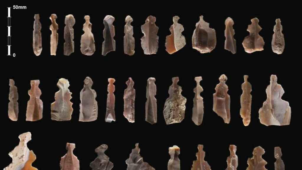 Las figurillas humanas descubiertas en Jordania.