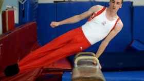 El gimnasta canadiense Thierry Pellerin en una prueba