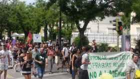 Manifestación en apoyo a los pobladores de Fraguas (Guadalajara)