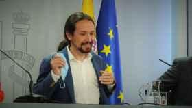 Pablo Iglesias, vicepresidente segundo del Gobierno, en rueda de prensa tras el Consejo de Ministros.
