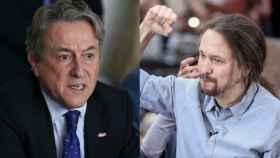 A la izquierda, Hermann Tertsch y a la derecha, el vicepresidente segundo Pablo Iglesias.