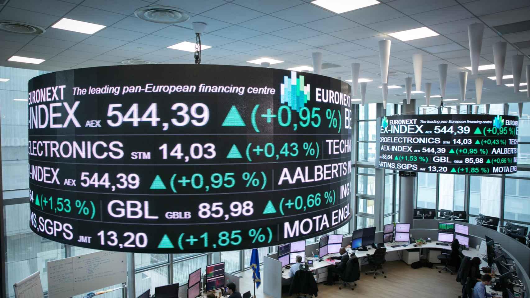 Sala de cotizaciones de Euronext.