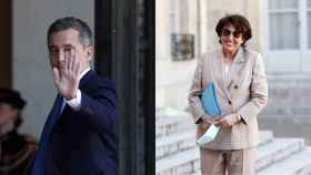 Los nuevos ministros de Interior y Cultura de Macron: Gérald Darmanin y Roselyne Bachelot.