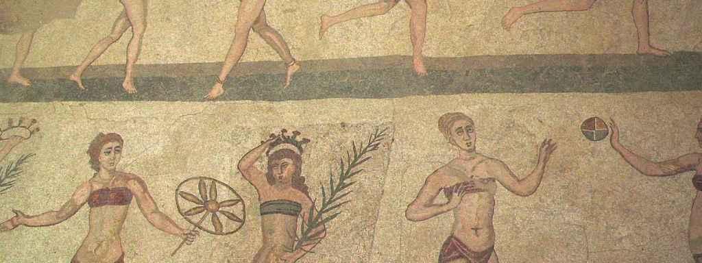 Parte del mosaico de la Villa de Casale.