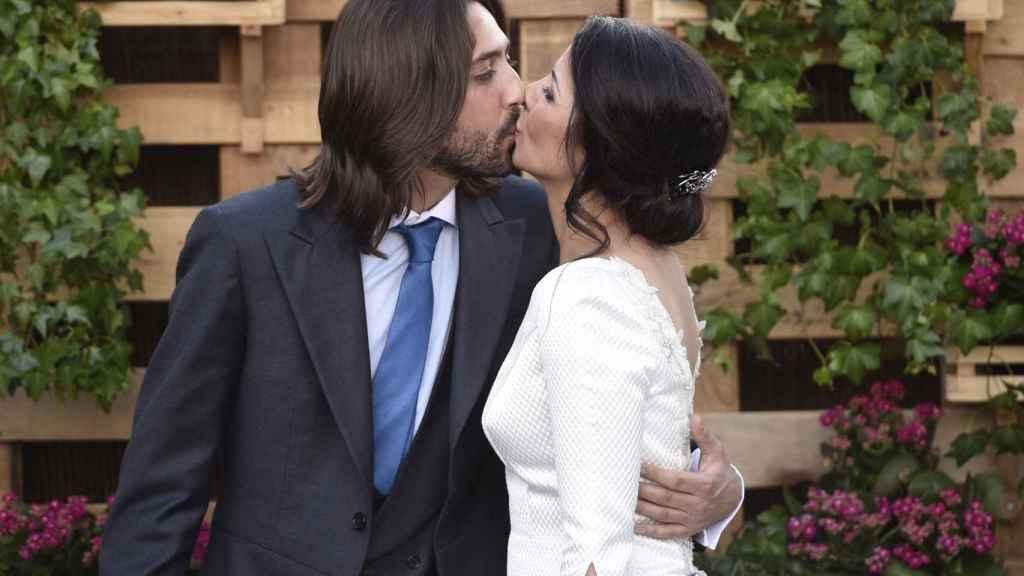 Sara Verdasco y Juan Carmona el día de su matrimonio, celebrado en junio de 2016.