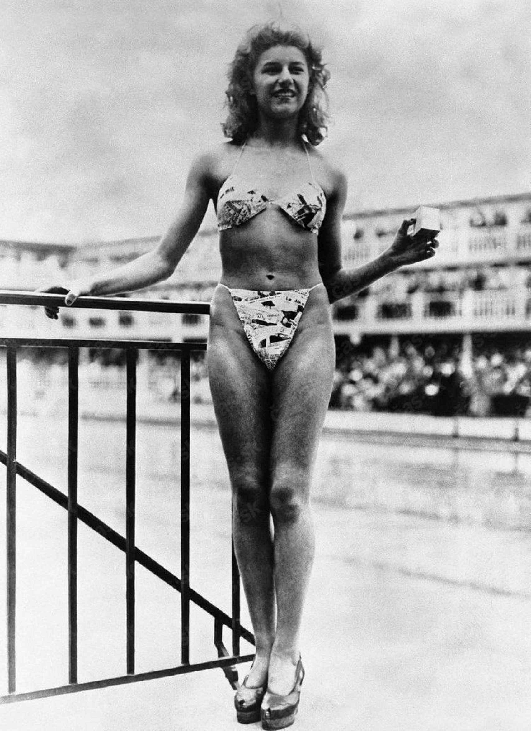 Micheline Bernardini fue la primera mujer en llevar un bikini.
