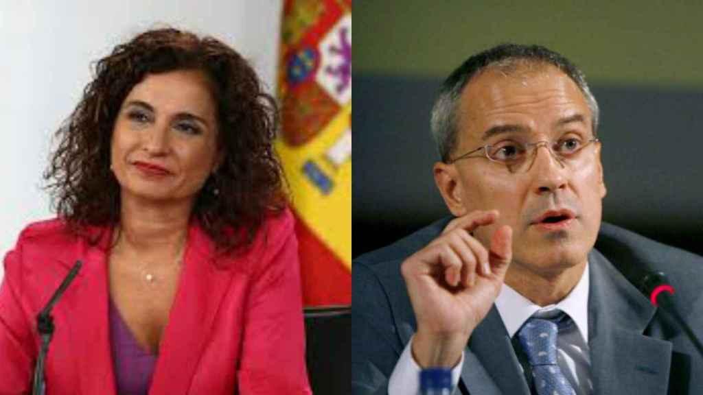 María Jesús Montero y Jesús Gascón.