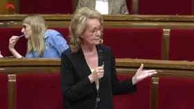 La 'consellera' catalana de Cultura, Mariàngela Vilallonga, este miércoles en el Parlament.