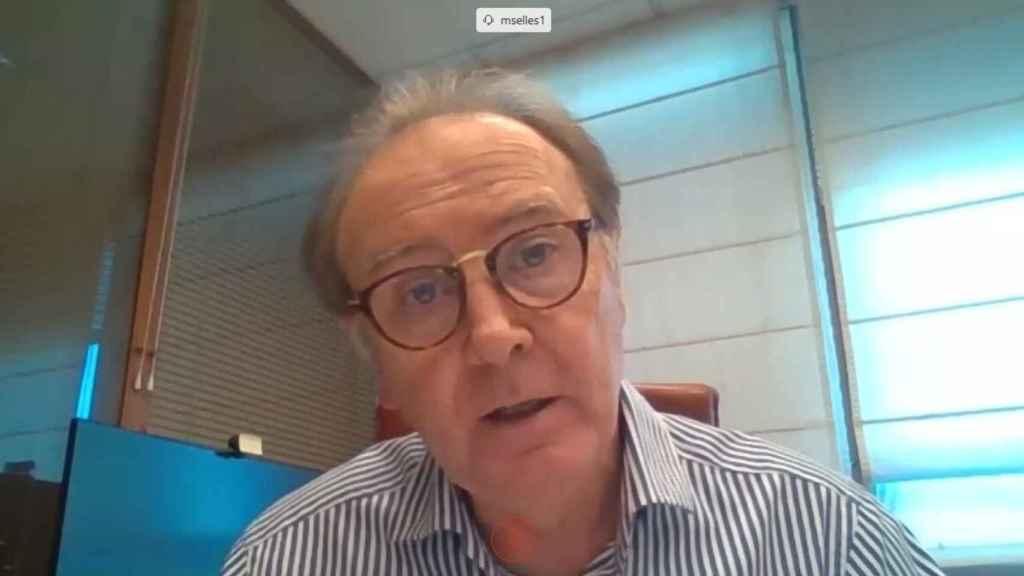Martín Sellés, durante una videoconferencia.
