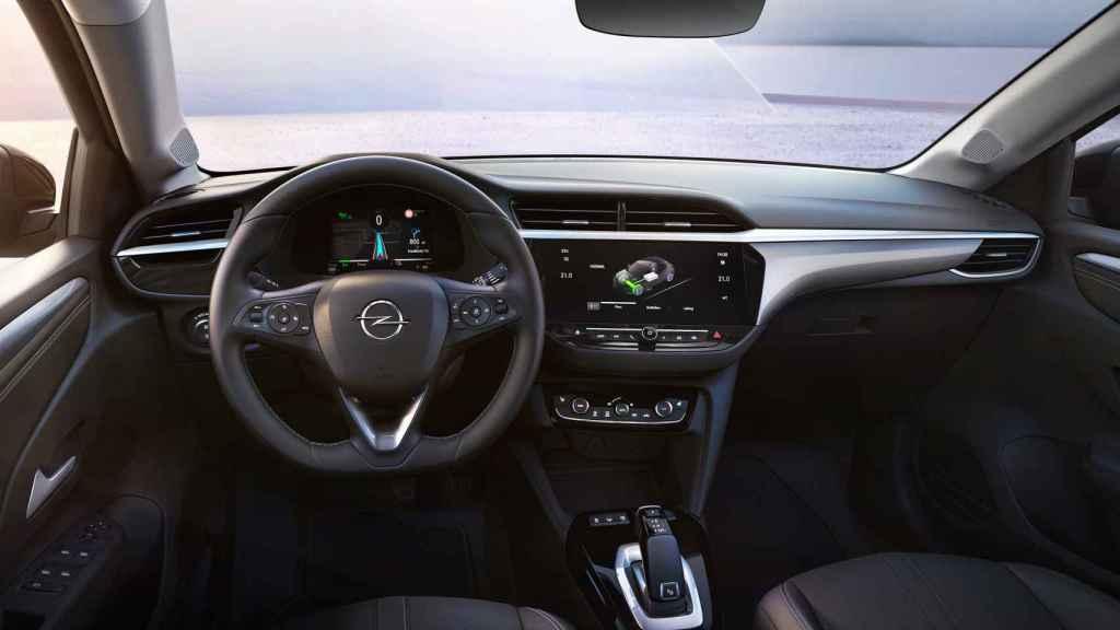 Interior del Opel Corsa-e.