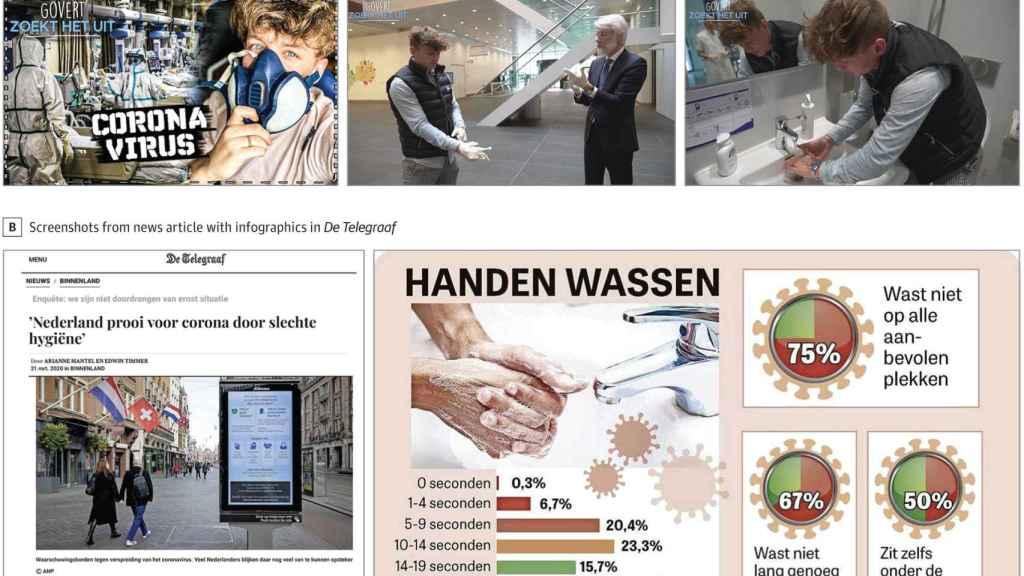 Ejemplos de los contenidos creados para la campaña de concienciación de las medidas de higiene.