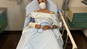 Joaquim 'Purito' Rodríguez, en el hospital tras su dura caída
