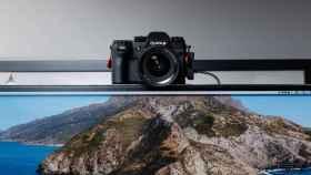 Cámara Fujifilm convertida en webcam.