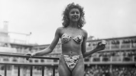 Primer bikini diseñado en 1946.