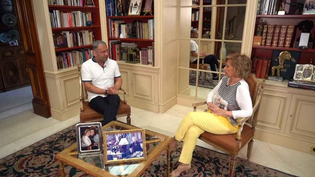 El presentador Jorge Javier Vázquez ha visitado la casa de María Teresa Campos.