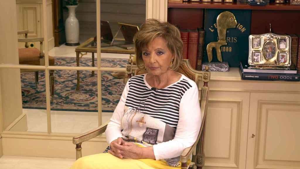 María Teresa Campos durante la última entrega de 'Enredados'.