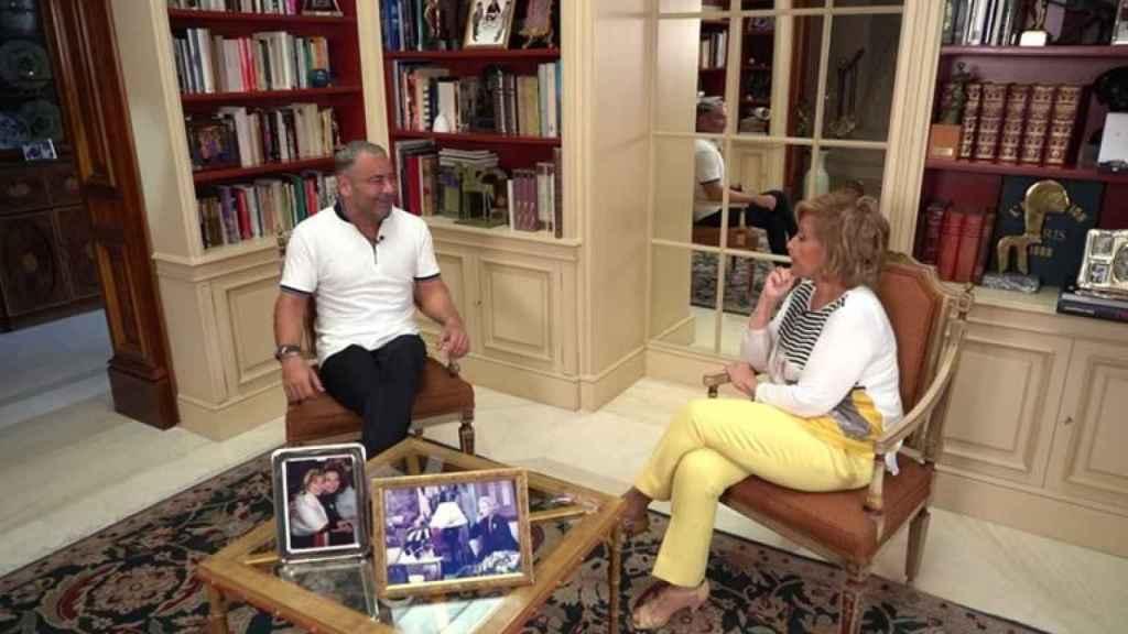 María Teresa Campos y Jorge Javier Vázquez durante la entrevista.