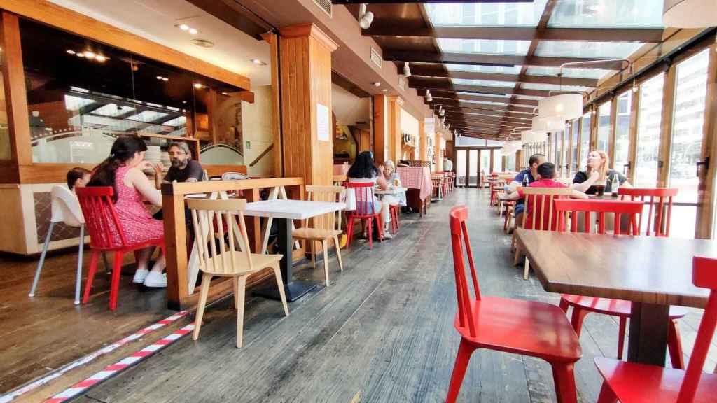 El interior del restaurante La Nicoletta.