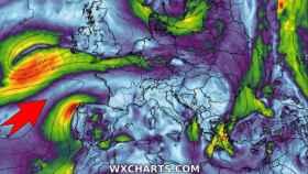 La tormenta postropical Edouard avanza hacia el norte de Europa mientras un segundo frente afecta a España. Severe-weather.eu.