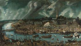 'Vista de la ciudad de Sevilla', un lienzo de finales del siglo XVI atribuido a Alonso Sánchez Coello.