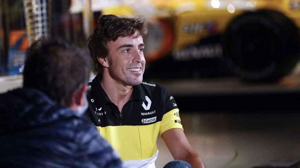 Fernando Alonso, en su presentación como nuevo piloto de Renault F1 para 2021