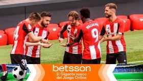 Los jugadores del Athletic celebran un gol en La Liga