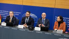 Comparecencia de Santiago Abascal en el Parlamento Europeo.