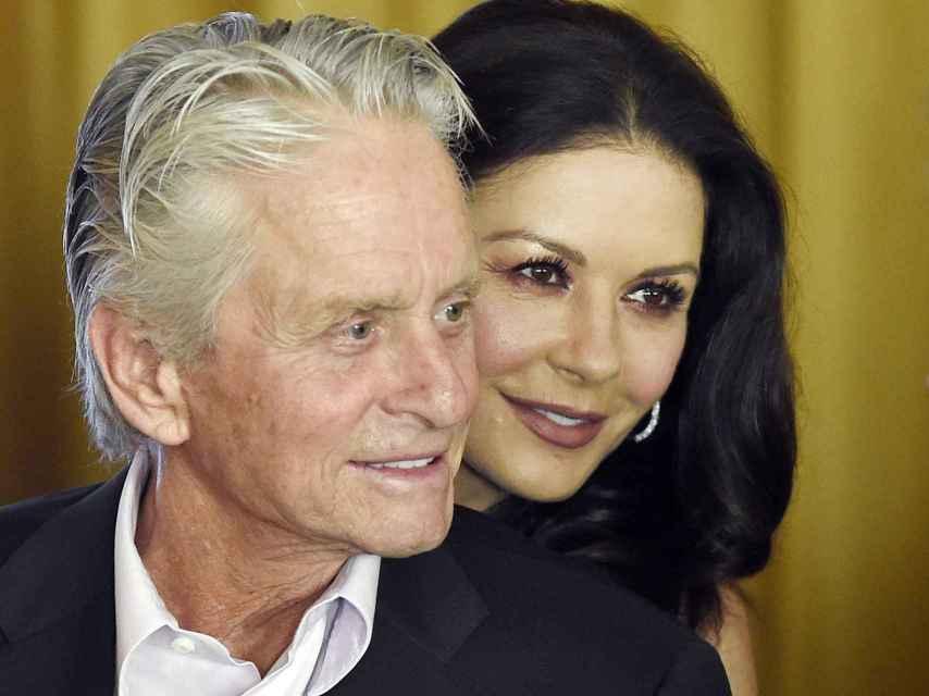 Catherine Zeta-Jones junto a su marido, Michael Douglas.