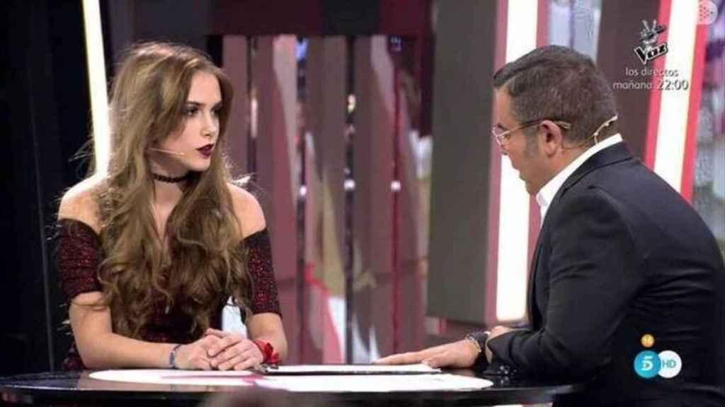 Carlota Prado entrevistada por Jorge Javier Vázquez.