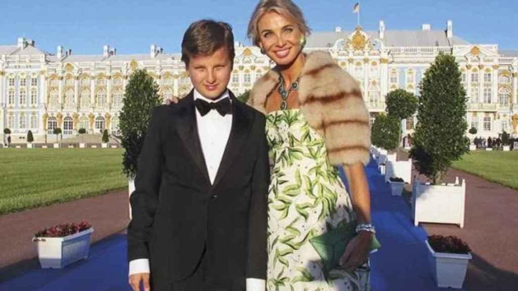 Corinna y su hijo Alexander.