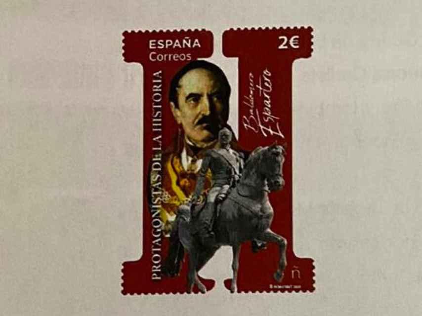 Boceto del sello de Correos de Espartero.