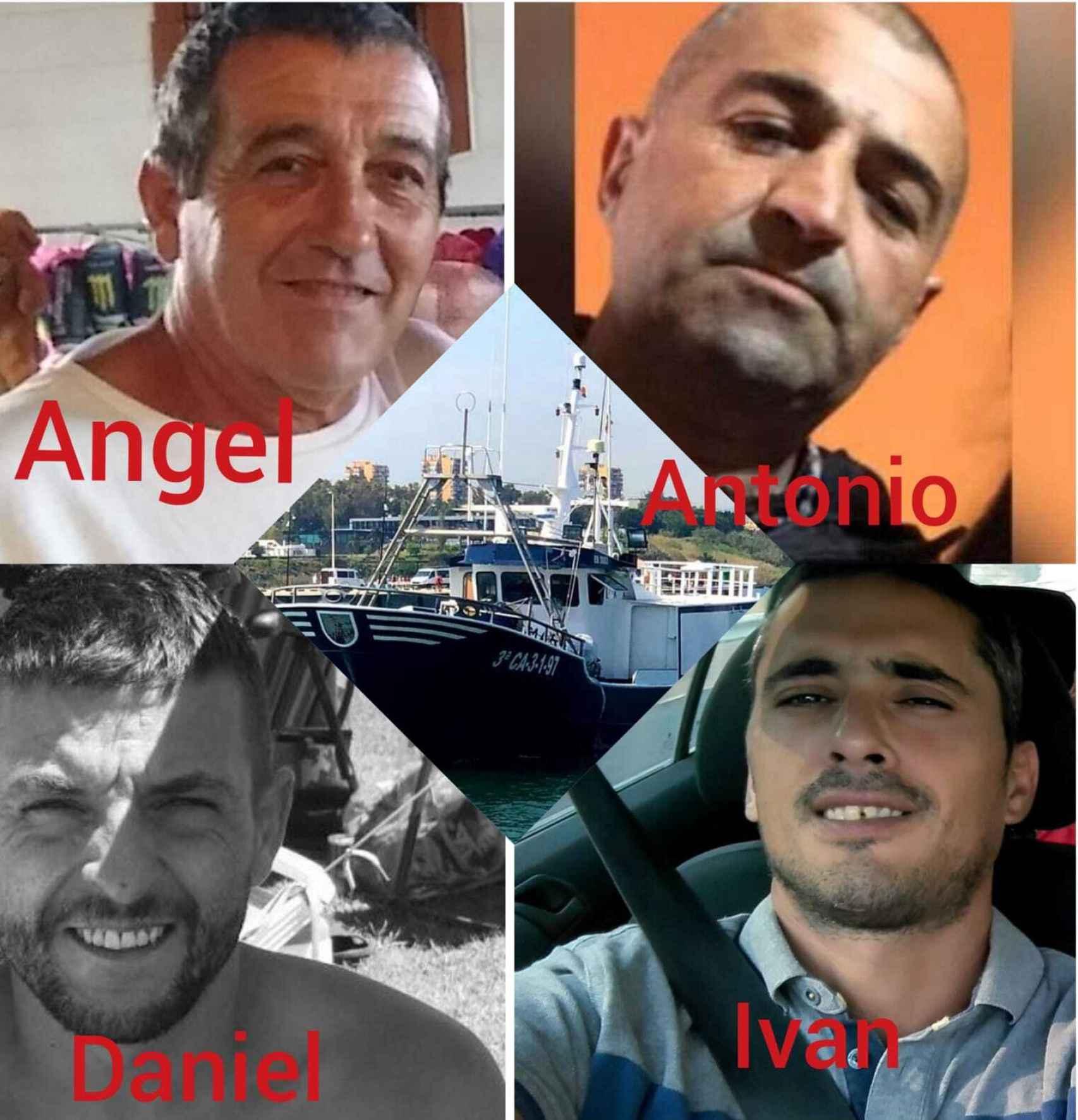 Los cuatro marineros del Rúa Mar cuyos cuerpos no se han encontrado.