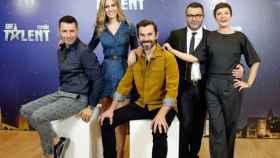 El jurado de 'Got Talent' en su primera edición (Mediaset)