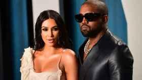 Kim Kardashian y el cantante Kanye West.