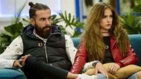 Carlota y José María durante la emisión de 'Gran Hermano Revolution'.
