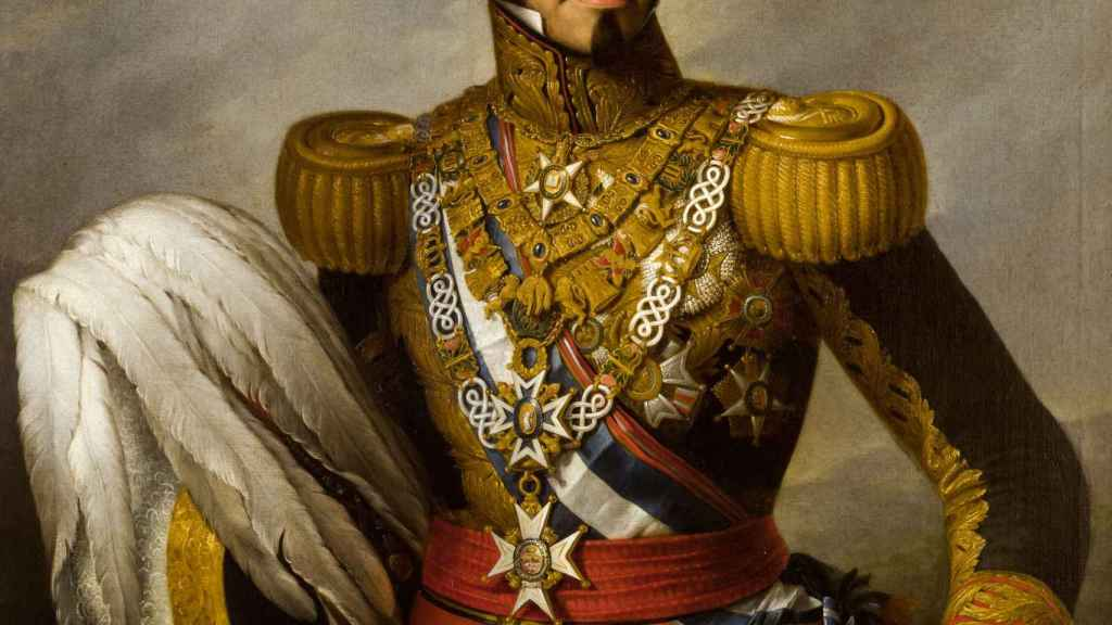 Retrato de Espartero pintado en 1841 por  Antonio María Esquivel.