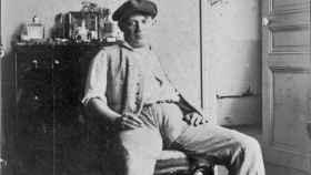 Picasso en Horta de San Juan (1909).