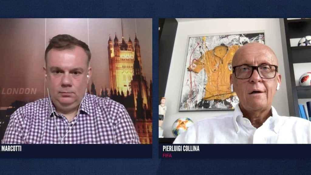Collina, responsable de arbitraje de la FIFA, en una entrevista en ESPN