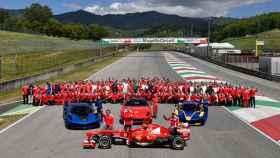 La escudería Ferrari en el circuito de Mugello