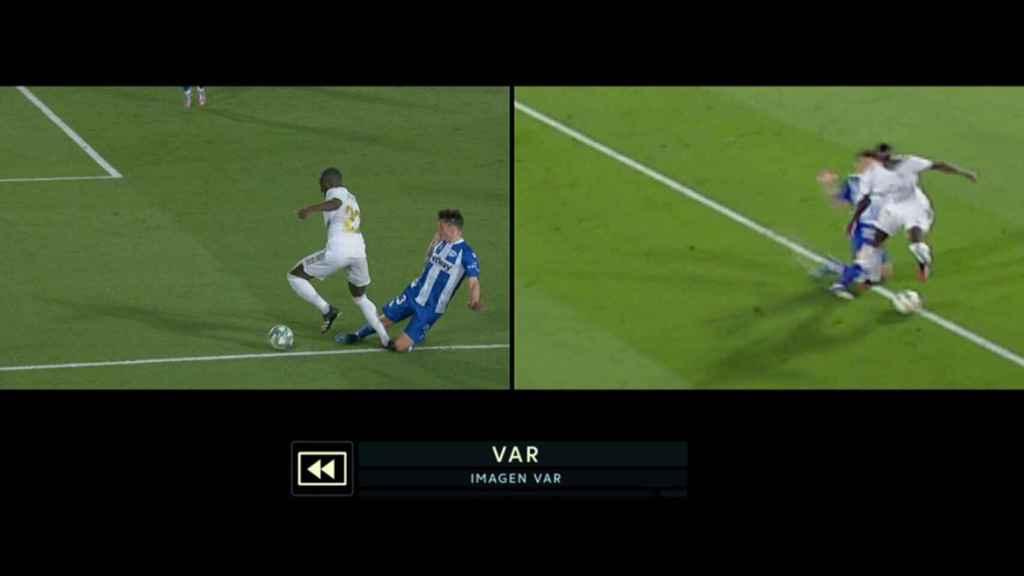 Así revisó el VAR el penalti a Mendy