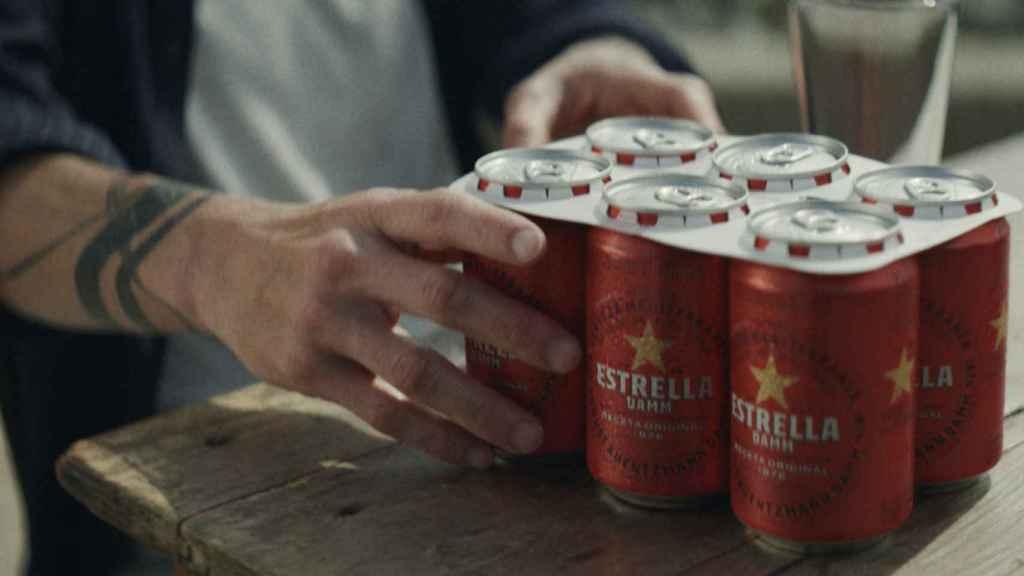 Sistema libre de anillas de plástico de Cervezas Damm.