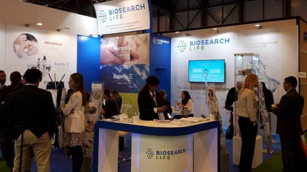 Una representación de Biosearch en una feria sectorial.