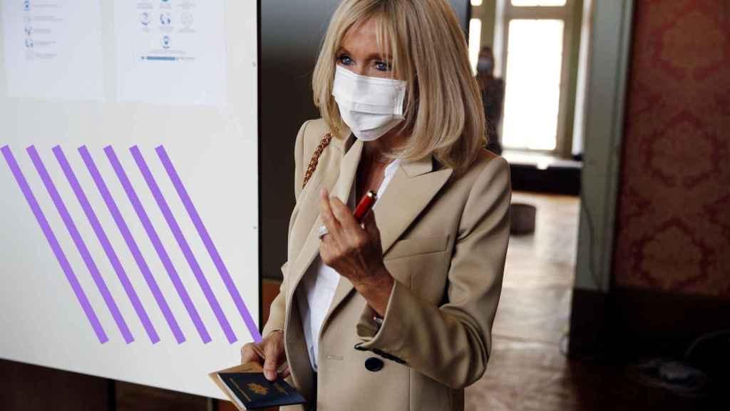 Brigitte Macron, en las últimas elecciones municipales en Francia.