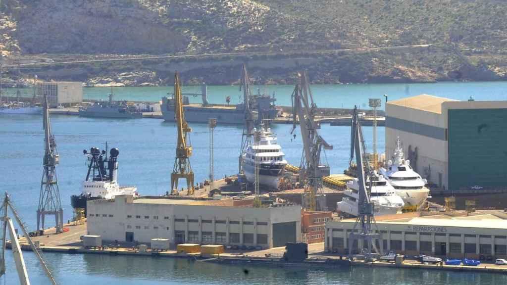 Astillero de Navantia en Cartagena (Murcia).